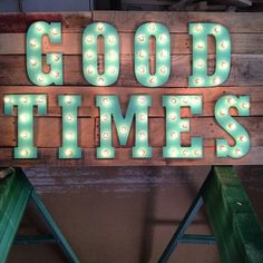Good Times Wooden light up marquee sign #ryobination  #diy