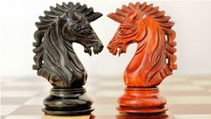 Triple Weighted Staunton in Bud Rose Wood and Ebony Wood Chess Set (4Q). http://www.chessbazaar.com/chess-pieces/wooden-chess-pieces/triple-weighted-staunton-in-bud-rose-wood-and-ebony-wood-chess-set-4q.html