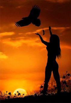 """ღﻼღﻼღ """"La femme et l'aigle"""" ღﻼღﻼღ"""