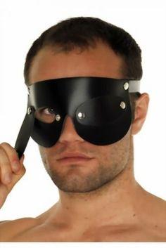 Blindfolds Leder - Herren Augenbinde mit abnehmbaren Augenklappen