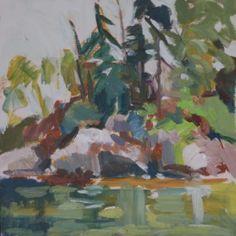 Cat Cove Reflections by Jillian Herrigel, Dimensions: 12 x 12 in, Price: $250.00