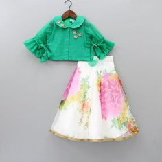Pre Order: Pink Top With Yellow LehengaIndian Wear, Ethnic Wear for GirlsShop online for Indian Ethnic wear for your baby, toddler or child. We also customise Indian Ethnic Wear. Kids Party Wear Dresses, Kids Dress Wear, Baby Girl Party Dresses, Kids Gown, Little Girl Dresses, Kids Wear, Dressy Dresses, Kids Indian Wear, Kids Ethnic Wear
