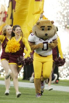 University of Minnesota mascot Goldy Gopher.