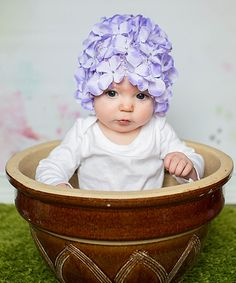 Look at this Adorable Me XO Lavender Hydrangea Petal Hat on #zulily today!