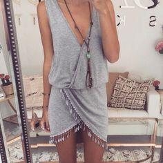 cute boho dress | beach outfit ideas | hippie indie chic