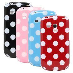 Lovely Polka Dot Flex TPU Back Case Cover for Samsung Galaxy S3 III Mini i8190