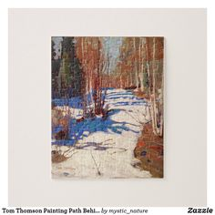 Tom Thomson Painting Path Behind Mowat Lodge Jigsaw Puzzle Wildlife Paintings, Nature Paintings, Landscape Paintings, Tom Thomson Paintings, Beautiful Nature Scenes, Great Works Of Art, Photographer Gifts, Gifts For Nature Lovers, Canadian Art