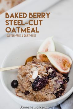 This Baked Steel Cut Oatmeal with Berries is a versatile and easy option for a nutritious and heart-healthy breakfast to start your day! #daniellewalker #cleaneating #breakfast Heart Healthy Breakfast, Quick And Easy Breakfast, Breakfast Recipes, Paleo Breakfast, Free Breakfast, Breakfast Time, Baked Steel Cut Oatmeal, Baked Oatmeal, Overnight Oatmeal