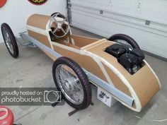 1919 AV Monocar Build Photos by Building a Cyclekart. Old Race Cars, Pedal Cars, Old Cars, Mini Jeep, Mini Bike, Gas Powered Scooters, Soap Box Cars, Wooden Car, Karting