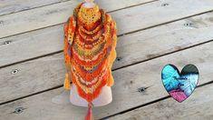 Chal otoño tejido a crochet precioso ! Escoge el proximo video! Plaid Au Crochet, Lidia Crochet Tricot, Crochet Diy, Crochet Shawls And Wraps, Knitted Shawls, Crochet Scarves, Crochet Accessories, Free Pattern, Diy And Crafts