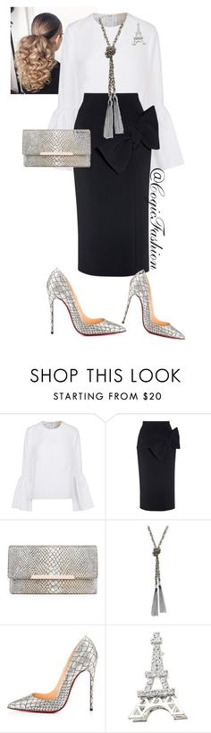"""Womens Day!!"" by cogic-fashion ❤ liked on Polyvore featuring Roksanda, Christian Louboutin and GUESS"