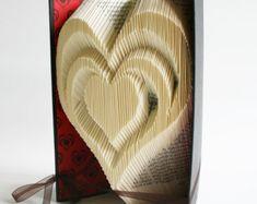 Herz Buch Falten Muster Schnitte: Plus von LoveBookFolding auf Etsy