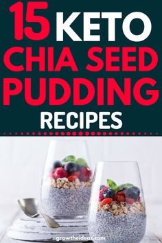 Chia seed will provide healthy fats and high-quality protein to people especially when you're on diet. If you never try to add chia seed to your meals Healthy Meals To Cook, Healthy Eating Recipes, Healthy Fats, Keto Recipes, Healthy Snacks, Keto Chia Seed Recipes, Cleanse Recipes, Healthy Nutrition, Keto Snacks