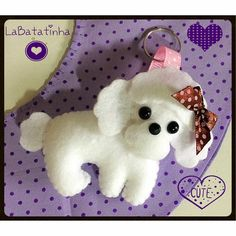 Chaveiro poodle feltro