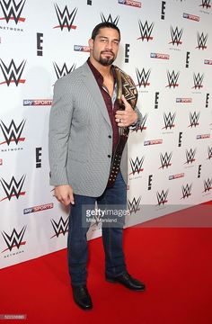 Roman Reigns arrives for WWE RAW at 02 Brooklyn Bowl on April 18, 2016 in London, England.