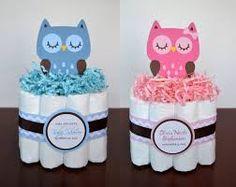 Decoración con pañales. Ideas para #babyshower #pañales #deco #regalos #regalo…