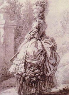 La reine Marie Antoinette dans le parc de Versailles, 1780, by Vigée-Le Brun