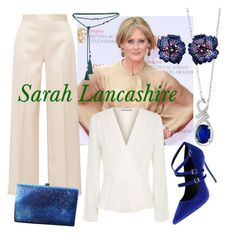 """""""Sarah Lancashire"""" by elizabethshakespeare ❤ liked on Polyvore featuring Elizabeth and James, Effy Jewelry, The Row, Lanvin, Anthropologie and Nicole Miller"""