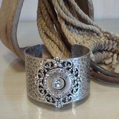Hammered 12 Gauge Cuff Bracelet