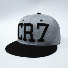 6edb6f6fe63 2016 new Cristiano Ronaldo gray CR7 Baseball Caps hip hop Sports Football  hat men women Snapback cap