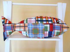 Madras Plaid Pillow - Kids Nautical Decor - Beachy Pillow - Nantucket Style on Etsy, $21.00
