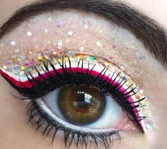Sparkly Rave Makeup