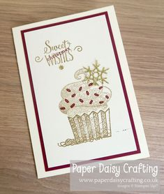 Paper Daisy Crafting: Hello Cupcake card from Paperjay Crafts Happy Birthday Husband, Happy Birthday Greetings, Birthday Wishes, Cupcake Card, Paper Daisy, Christmas Card Crafts, Handmade Birthday Cards, Cupcakes, Stampin Up Cards