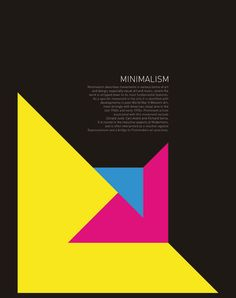 Minimalism poster. Love the colors and simplicity.
