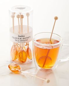 Neiman Marcus Tea Honey Spoons - Gift For You Honey Packaging, Food Packaging, Gourmet Food Gifts, Gourmet Recipes, Chocolate Lipstick, Honey Spoons, Honey Candy, Honey Sticks, Honey Shop