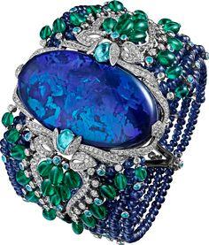 BRACELET ... Platinum, opal, sapphires, emeralds, Paraiba tourmalines, diamonds - Cartier