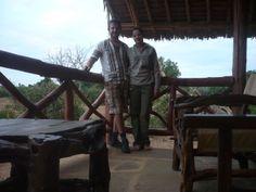 Sulla 'terrazza' della nostra tenda al centro del Parco dello Tsavo Est. http://www.orizzonteviaggi.blogspot.it/search/label/Kenya