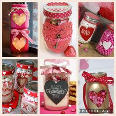 Mason Jar Valentine Day Craft For Boyfriend