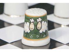 CZECH FINE BONE CHINA HAND-PAINTED THIMBLE -Sheep
