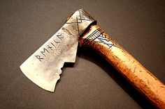 Dwarven Axe 2 by Cedarlore Forge - (formerly Mad Dwarf Workshop), via Flickr