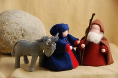 felt Journey to Bethlehem - sweet Nativity Creche, Christmas Nativity Scene, Nativity Crafts, Felt Christmas, Christmas Projects, Handmade Christmas, Holiday Crafts, Nativity Scenes, Crafts To Do