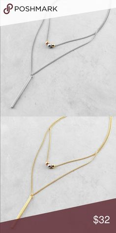 """Layered minimalist necklace Price is for 1 necklace.              16"""" L Polished Metal Lobster Clasp Closure. ❤️This necklace will be marked down to $20 this weekend so lemme know if u want it ❤️ Jewelry Necklaces"""