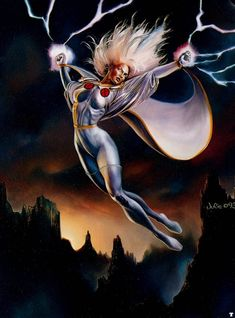 Storm by Boris Vallejo and Julie Bell Comic Book Characters, Comic Character, Comic Books Art, Julie Bell, Marvel Comics, Marvel Heroes, Marvel Xmen, Boris Vallejo, Wolverine