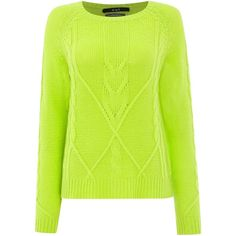Oui Button back knitted pullover (2,245 MXN) ❤ liked on Polyvore featuring tops, sweaters, clearance, lime, sweater pullover, green top, green jumper, button back top and button back sweater