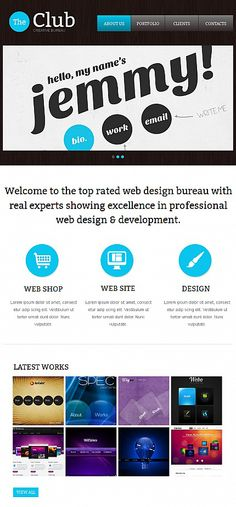 The Club Facebook HTML CMS Templates by Ares