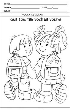 Smile trocando idéias!: Atividades de volta as aulas!