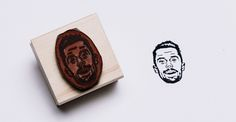 Stamp Yo Face Creates Custom Rubber Stamps Featuring Hand-Drawn Portraits of People's Faces