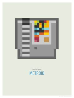 Metroid Cartridge Art Print