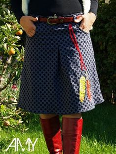 Buy Amy, ladies skirt, cut and instructions from Jolijou as a creative ebook at farbenmix! Modest Outfits, Fall Outfits, Womens Skirt Pattern, Dress Skirt, Midi Skirt, Amy, Paper Cutting Patterns, Business Outfit, Cute Skirts