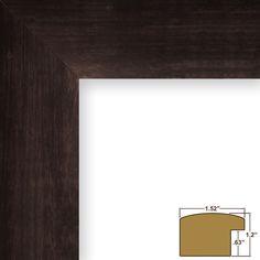 """Picture Frame Poster Frame 1.5"""" Espresso Walnut Wood Grain Wall Decor (58061) #CraigFramesInc #Contemporary"""