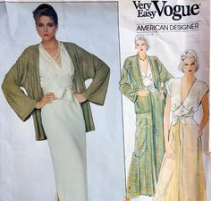 Vintage Vogue sewing pattern by designer Edith Head for a four piece ensemble at Toinette's !