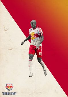 MLS Posters on Behance - Thierry Henry - New York Red Bull FC