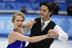 Canada's Kaitlyn Weaver, left, and Andrew Poje compete in the ice dance short dance figure skating competition at the Iceberg Skating Palace...