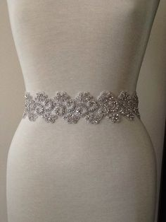 All around beading Bridal belt wedding belt by MyMothersDaughter60, $195.00