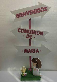 Comunión Decoration Communion, First Communion Decorations, First Communion Party, Communion Gifts, Xmas Decorations, Ideas Para Fiestas, Centerpieces, Place Card Holders, Baby Shower