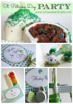 Adorable St. Patrick's Day Party from www.SomewhatSimple.com #stpatricksday #party